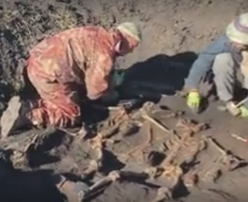 Под Харьковом нашли массовое захоронение солдат и офицеров Красной армии