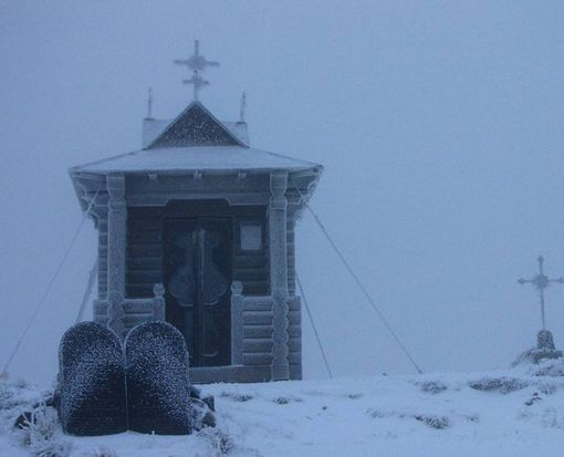 В Украине выпал снег: фото-факт