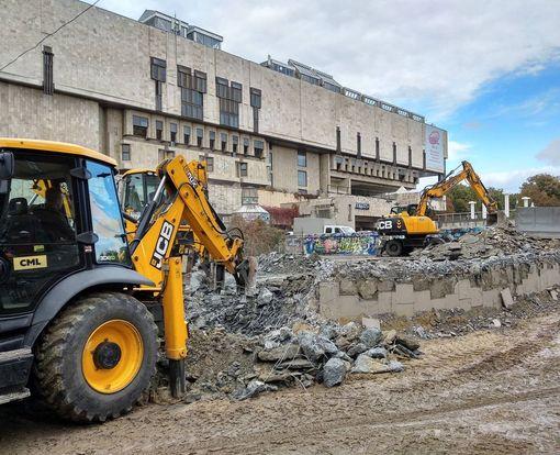 В центре Харькова прокладывают новую дорогу: фото-факт