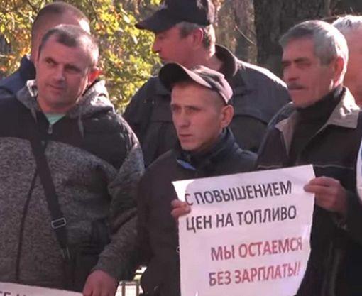 Под Харьковом кипят страсти вокруг подорожания проезда на маршрутках: видео-факт