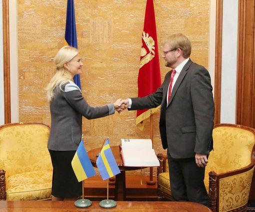 Светличная провела встречу с послом Швеции в Украине: видео-факт