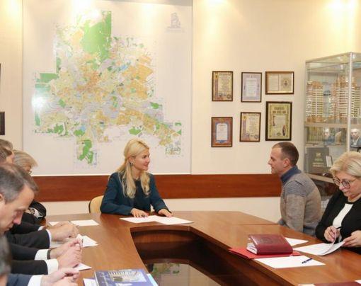 Светличная встретилась с коллективом компании «Жилстрой-2»