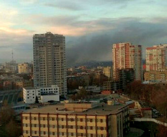 Крупный пожар в Харькове: горели пиломатериалы