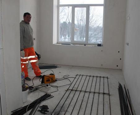 В Харьковской областной больнице для чернобыльцев продолжается капитальный ремонт