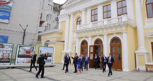 Фасад кассового зала Харьковской филармонии полностью преобразился