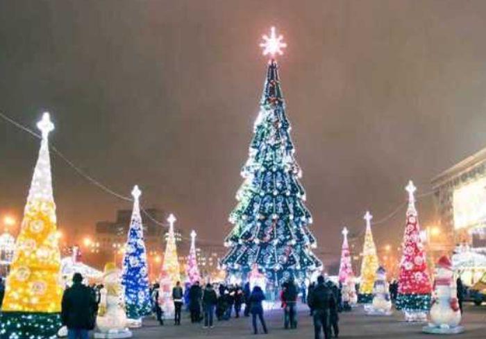 Главная городская елка Харькова установила рекорд