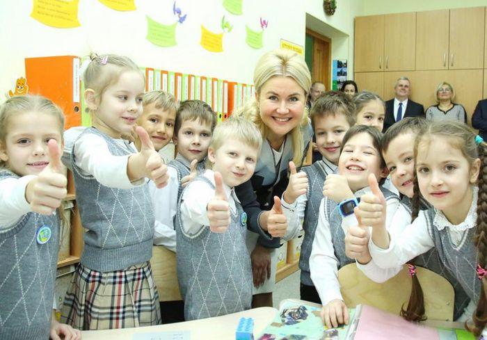 Юлия Светличная посетила одну из лучших гимназий Харькова