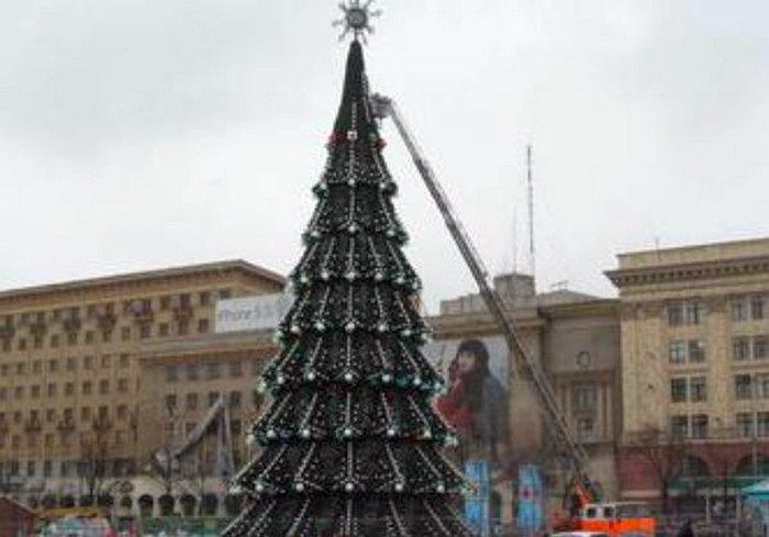 Харьковсая елка стала рекордсменкой