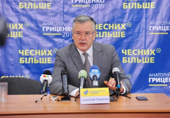 Гриценко: Гладковський должен быть немедленно арестован