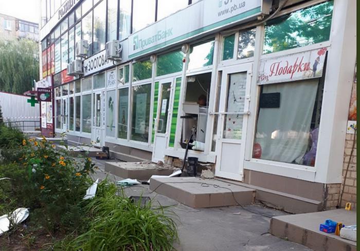В Харькове взорвали банкомат на Пятихатках