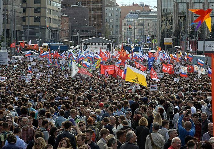 В Москве состоялась многотысячная акция протеста: фото-факт