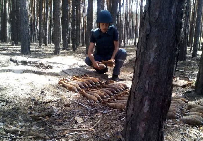 Под Харьковом нашли крупную партию боеприпасов: фото-факт