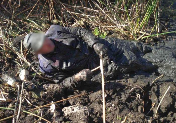 В Харьковской области человека засосало болото
