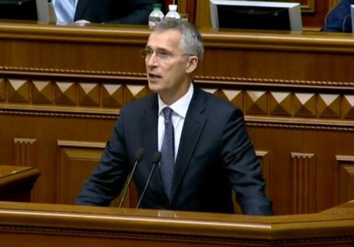 Генсек НАТО напомнил в Киеве нардепам, что не стоит «спати на волі»