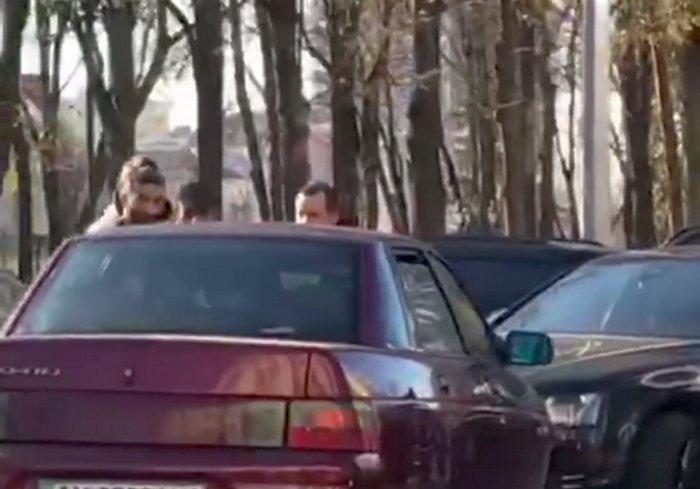 В Харькове ДТП произошло прямо перед входом в главк полиции (видео)