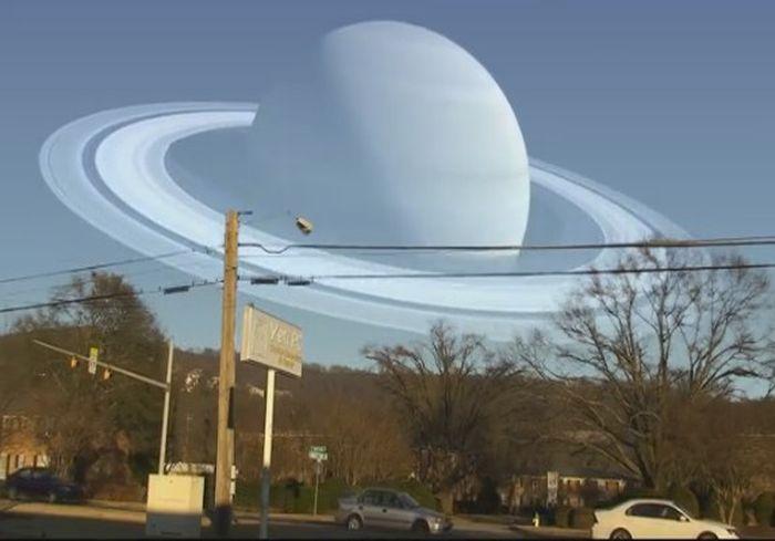 В Сети показали, как выглядели бы планеты Солнечной системы на месте Луны (видео)