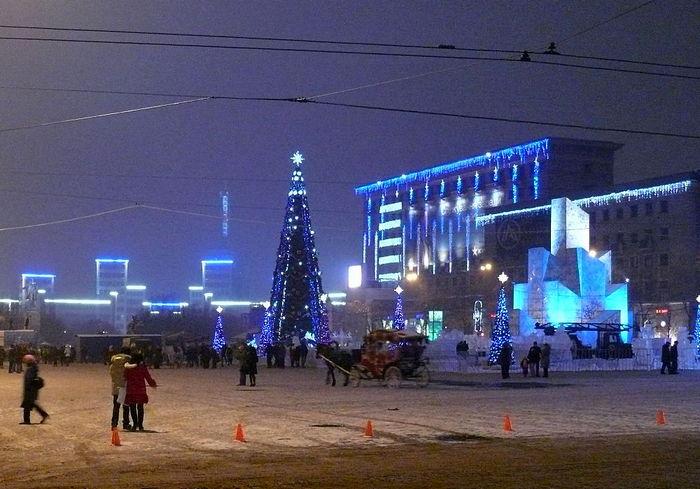 Атмосферно: как в Харькове Новый год встречали (видео)