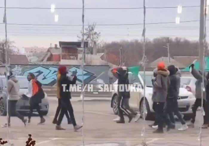 Иностранцы устроили в Харькове массовую акцию (видео)