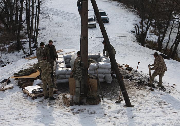 Бойцы терробороны приняли участие в учебных сборах в Харьковской области