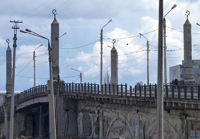 В Харькове перекрыт проезд по Балашовскому мосту