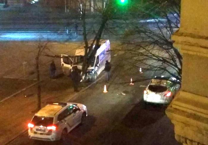 ДТП в Харькове: на автомобиль упало дерево (фото)
