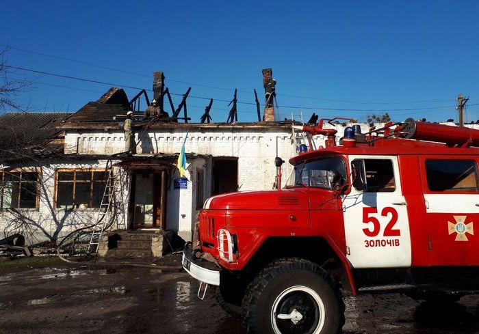 Пожар под Харьковом: сгорела ветклиника