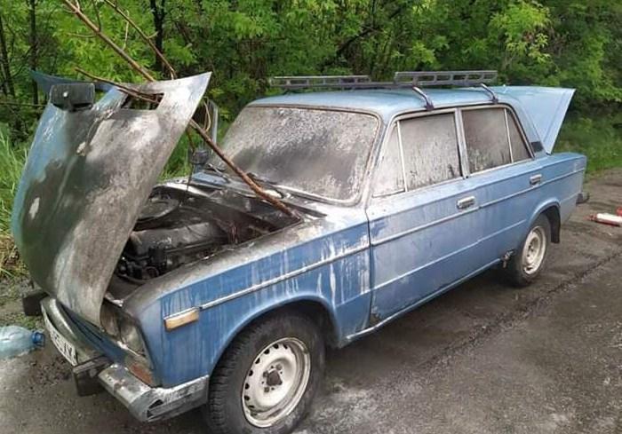 В Харьковской области спасатели ликвидировали пожар в автомобиле