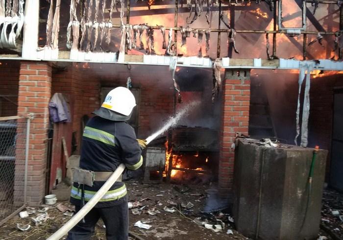 В Валковском районе спасатели ликвидировали пожар в частном домовладении (видео)