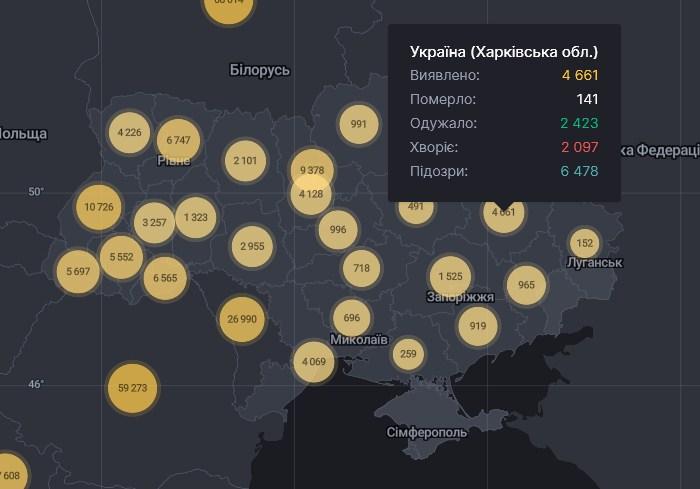 В Харьковской области 134 новых случая COVID-19 за сутки. Еще трое людей скончались