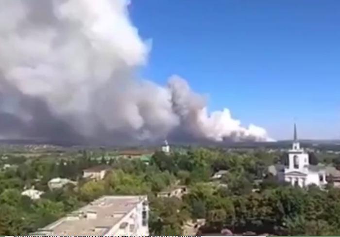 Лесной пожар в Харьковской области уничтожил поселок