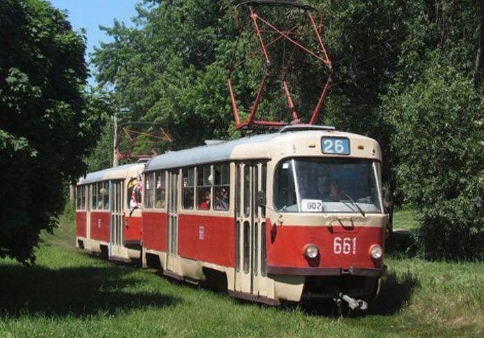 В Харькове временно изменили график и маршрут движения нескольких трамваев