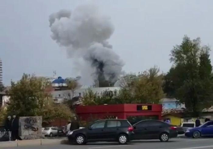 Пожар в центре Харькова – горит здание возле Планетария (видео, обновлено)