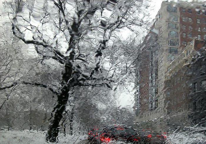 В Харьковской области дождь со снегом
