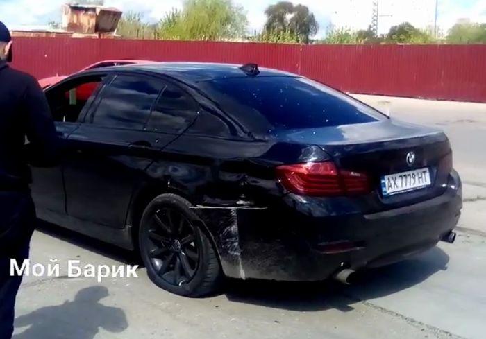 «Харьковский Шумахер» довыпендривался на своем BMW (видео, обновлено)