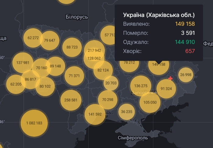 В Харьковской области новые случаи инфекции COVID-19