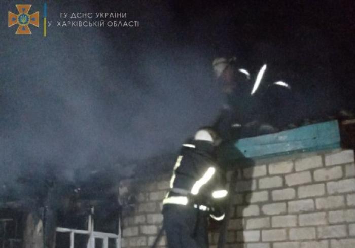 Под Харьковом в пожаре погибла 63-летняя женщина