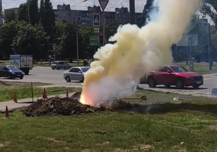В Харькове горел силовой кабель горэлектротранса