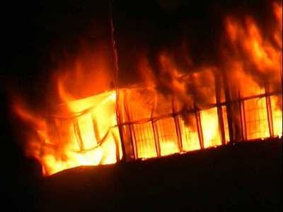 Снова крупный пожар