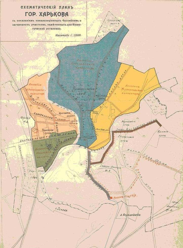 Схематический план канализации
