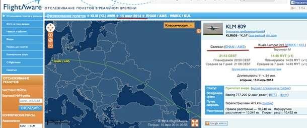 Это маршрут самолета, который